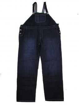 Jeans-Latzhose in Übergröße Stone