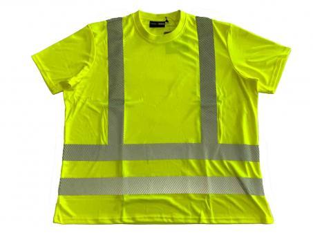 Warn T-Shirt in Übergröße Gelb