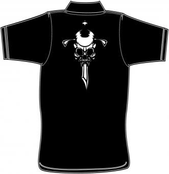 Polo-Shirt mit Druck in Übergröße Black