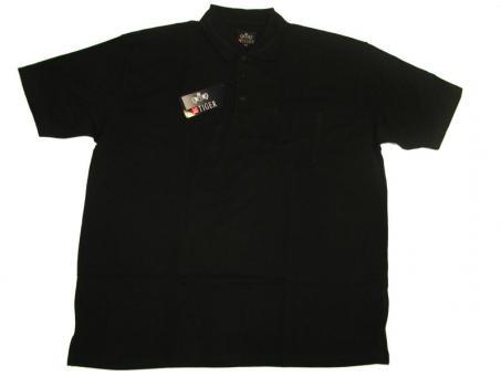 Polo-Shirt in Übergröße Black 7XL Schwarz