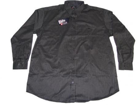 Streifen-Hemd langarm in Übergröße