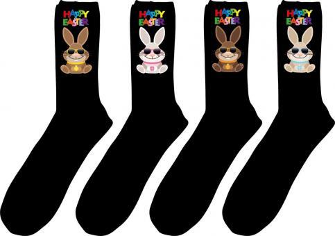 4 paar Gesundheits-Socken mit Oster-Druck Größe 47-50