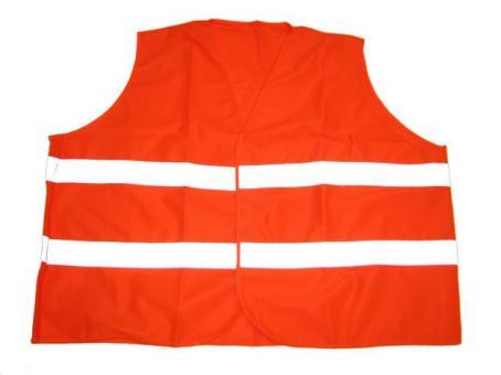 Reflex Warnweste in Übergröße Neon Orange