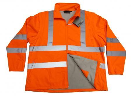 2in1 Warnschutz-Softshell-Jacke/Weste in Übergröße