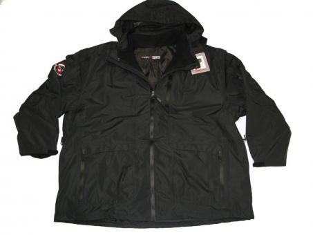 3in1 Winter-Jacke, Ski Jacke, Schwarz