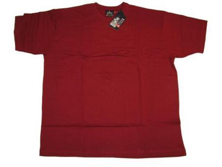 T-Shirt in Übergröße Bordeaux