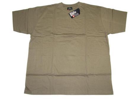 T-Shirt in Übergröße Khaki