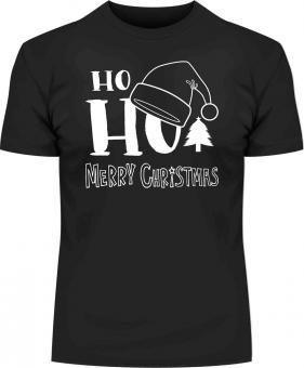 Weihnachts-Druck HoHo T-Shirt mit Druck 7130 2XL - 12XL Größe Wählen: