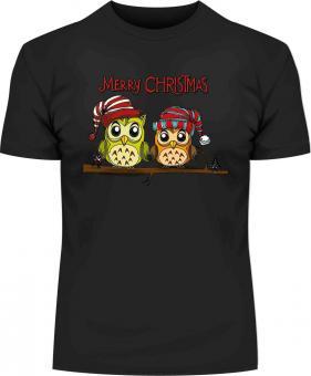 Weihnachts-Eulen-T-Shirt mit Druck 712 2XL - 12XL Größe Wählen: