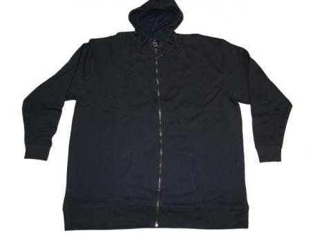 Kapuzen-Sweat-Jacke in Übergröße Marine