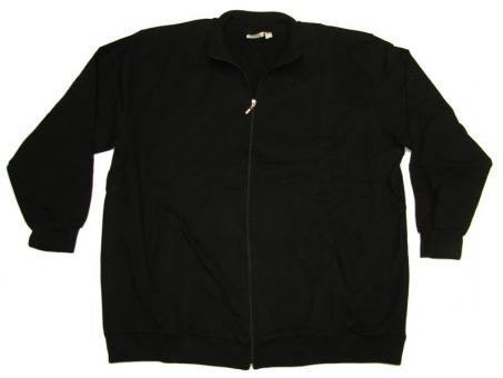 Sweat-Jacke in Übergröße Schwarz
