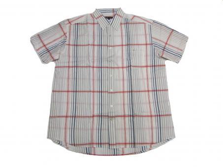 Streifen-Hemd kurzarm in Übergröße,