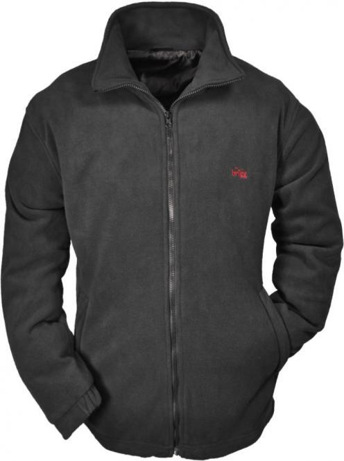 Fleece-Jacke in Übergröße 6XL Schwarz