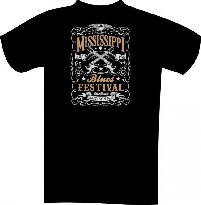 T-Shirt mit Druck in Übergröße 10XL Schwarz