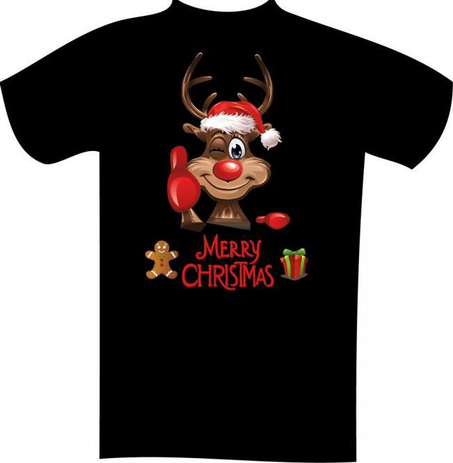 Weihnachts-T-Shirt mit Druck 7126 2XL - 12XL Größe Wählen: