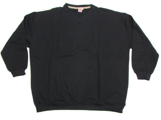 Sweat-Shirt V-Neck mit Bund