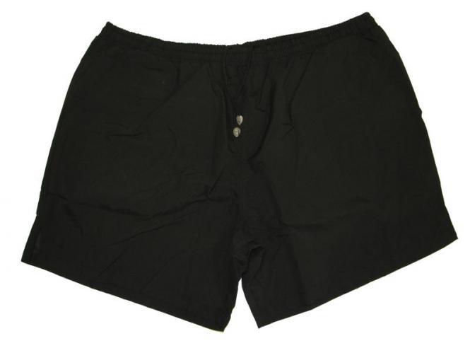 Bade-Short in Übergröße 4XL Schwarz