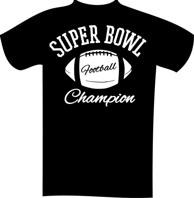 T-Shirt mit Druck in Übergröße 7XL Schwarz