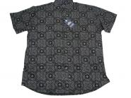 Hemd kurzarm in Übergröße 7XL Schwarz
