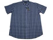 Hemd kurzarm in Übergröße 7XL Blau