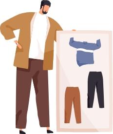 Illustration - Männermode in Übergröße
